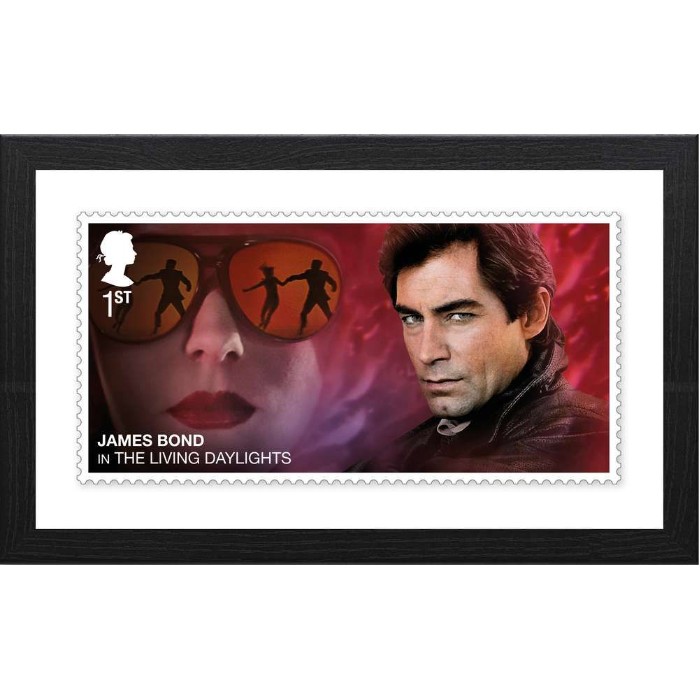 The James Bond Framed The Living Daylights Print
