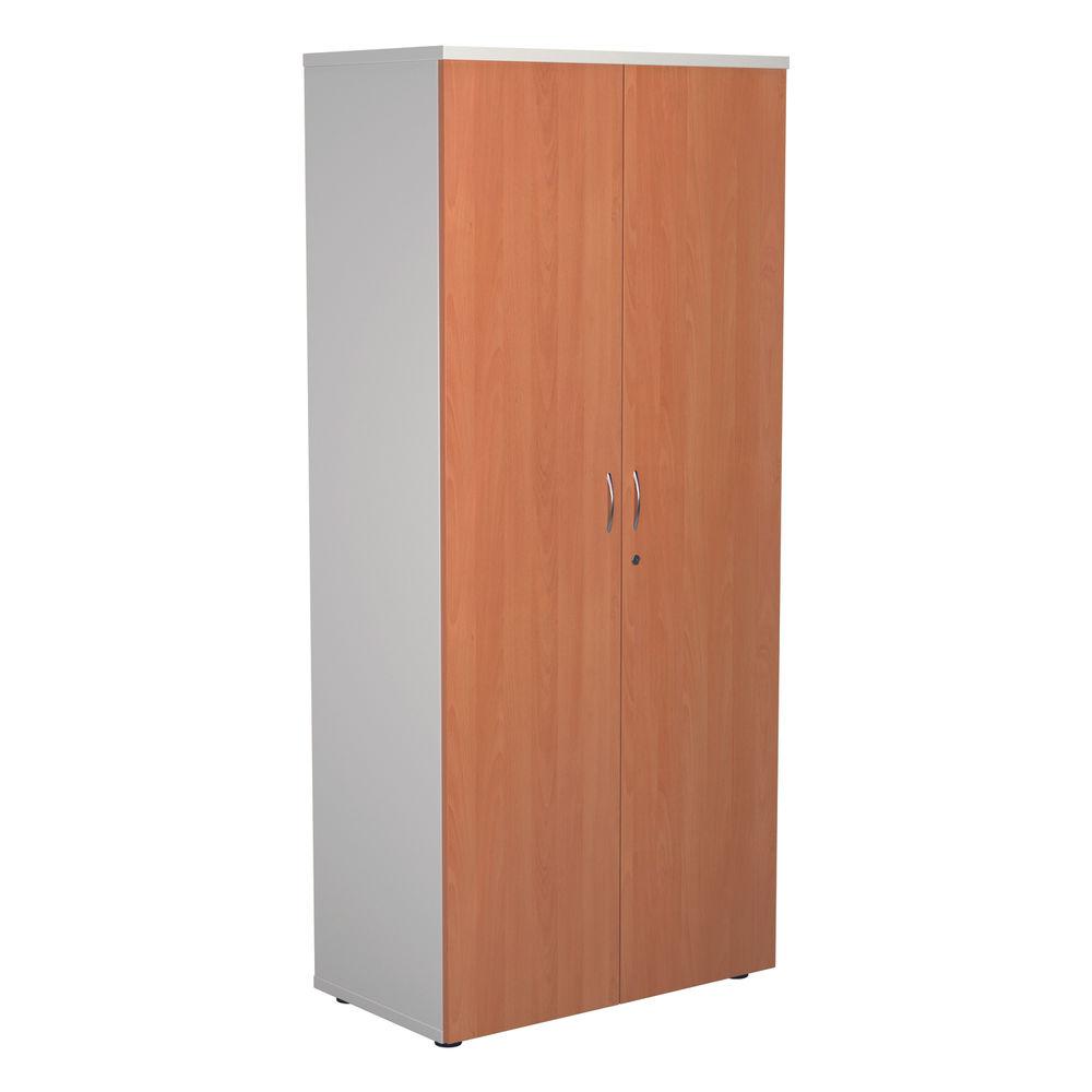 Jemini 1800 x 450mm White/Beech Wooden Cupboard
