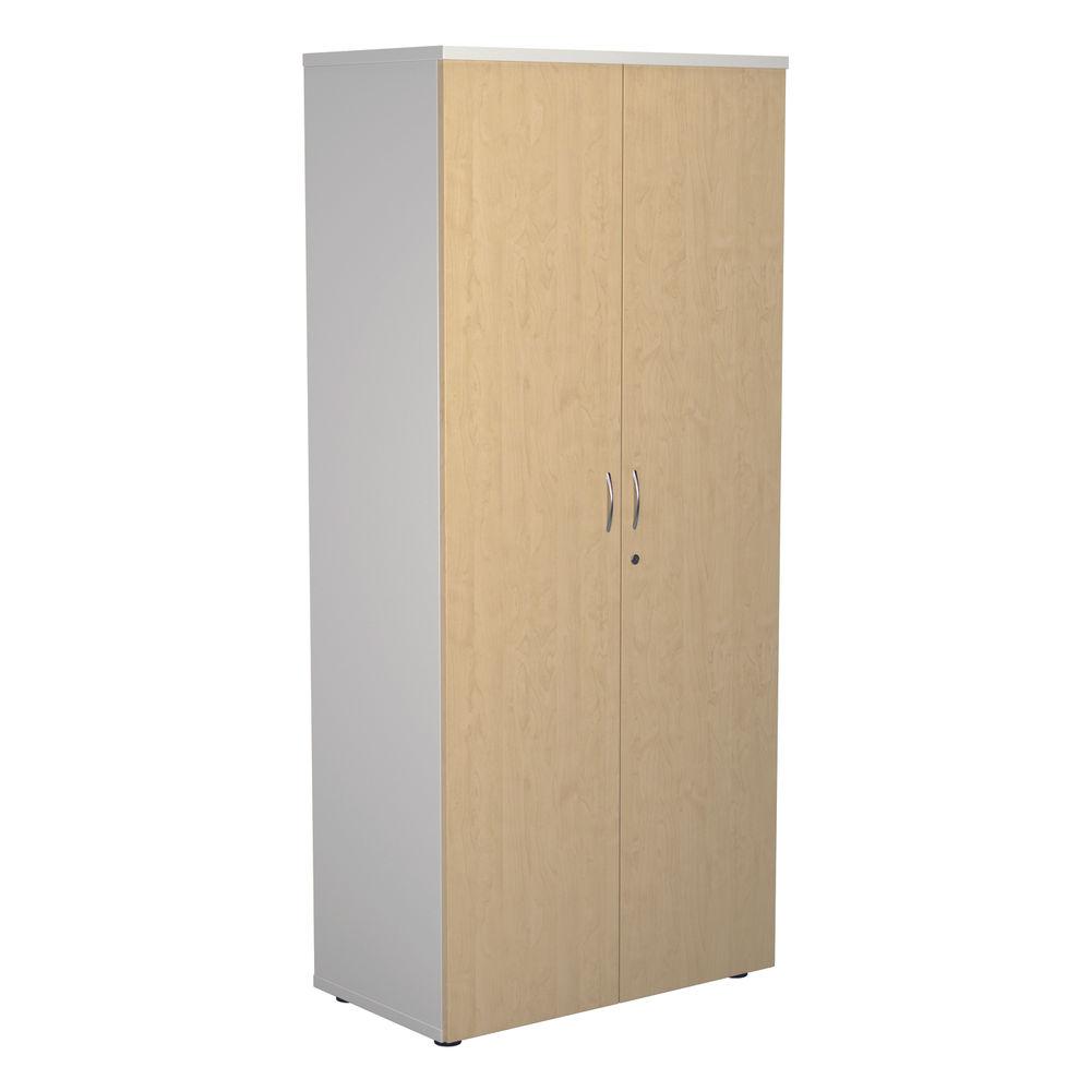 Jemini 1800 x 450mm White/Maple Wooden Cupboard