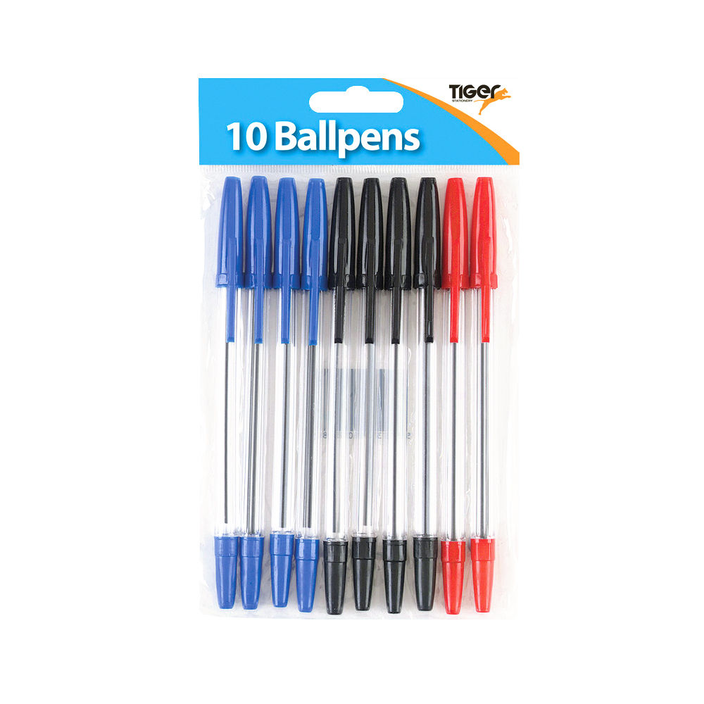 Tiger Assorted Ballpoint Pens, Pack of 120 - 302011
