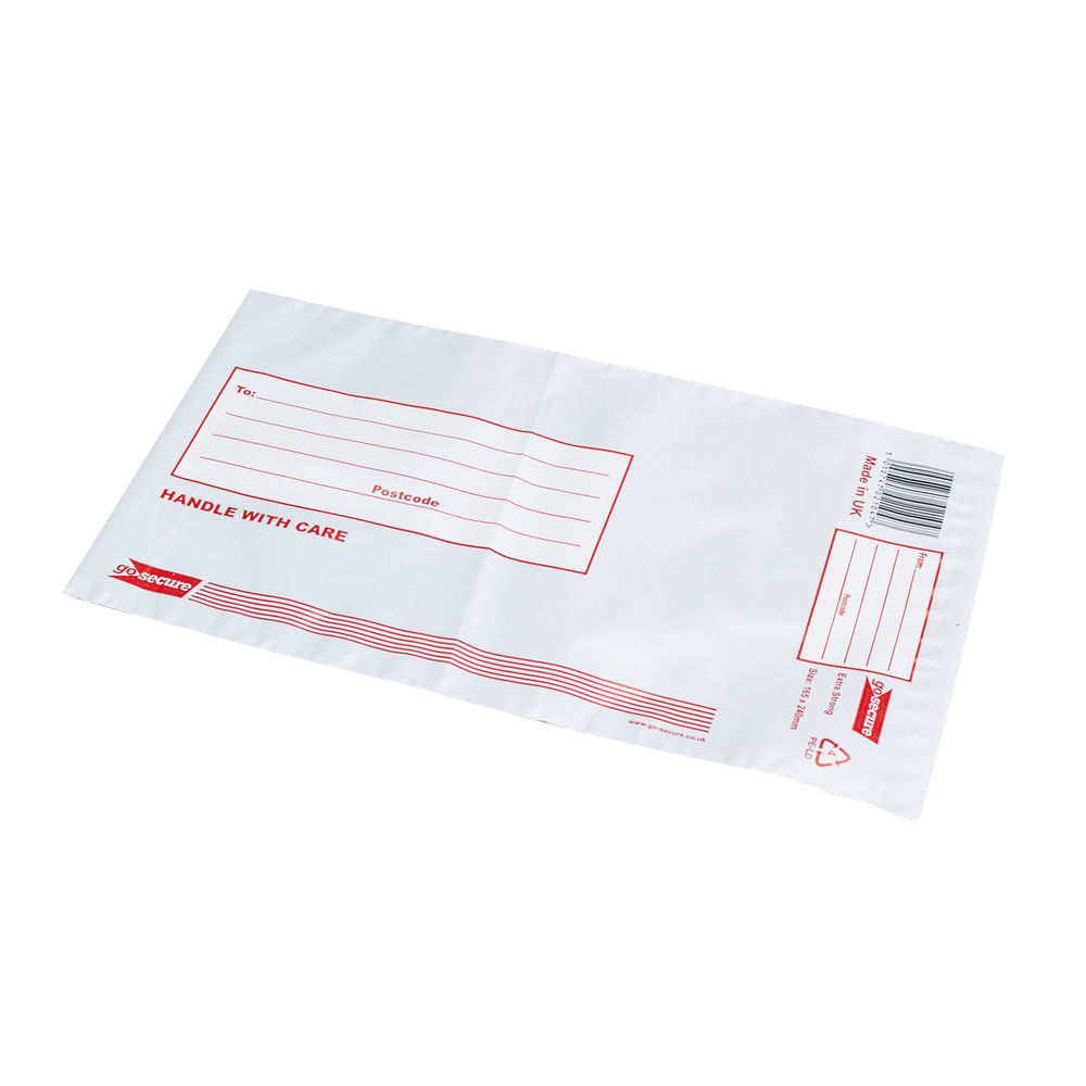 Go Secure Extra Strong Polythene Envelopes 165x240mm (Pack of 50) PB08232