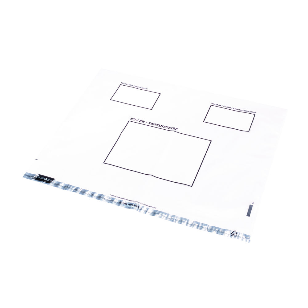 Go Secure Extra Strong C3 Clear Polythene Envelopes (Pack of 100) - PB30303
