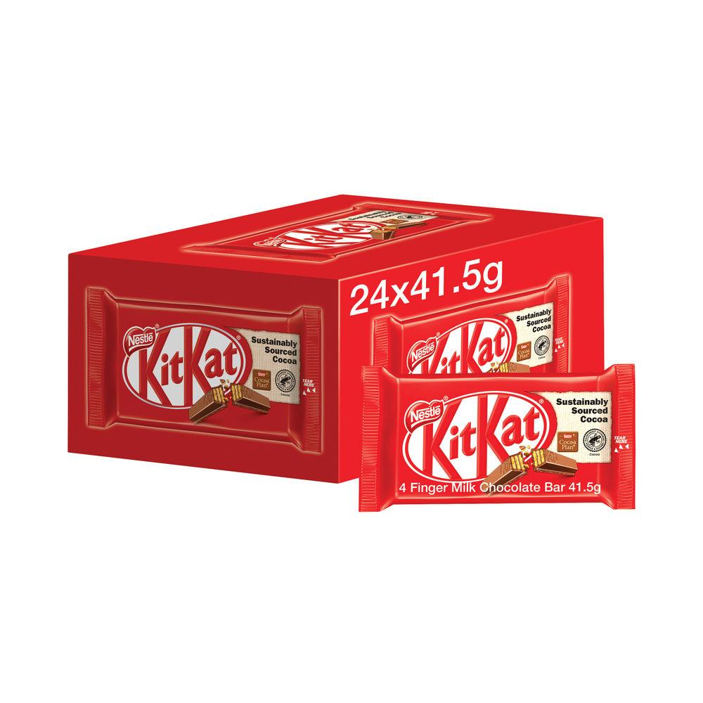 Kit Kat Milk Chocolate Bars (Pack of 24) - 12351222