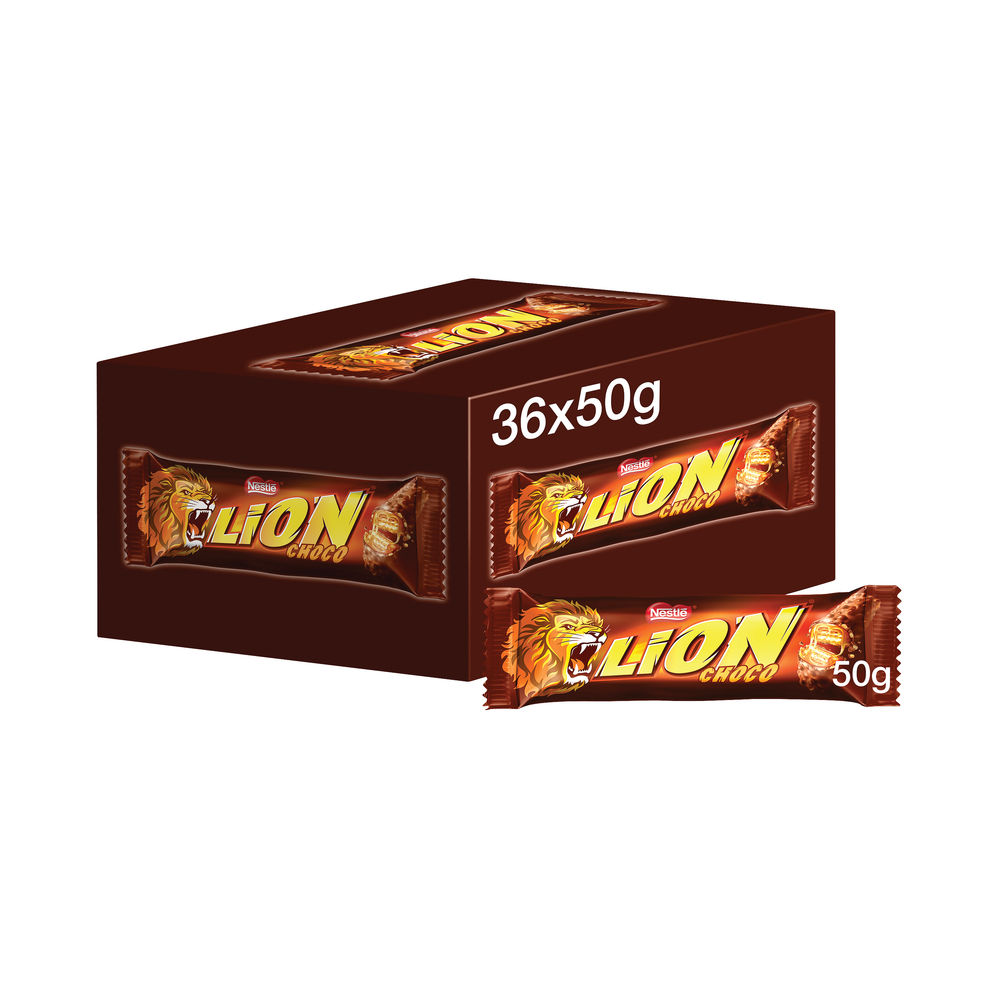 Lion Milk Chocolate Bars 50g, Pack of 36 - 12220743