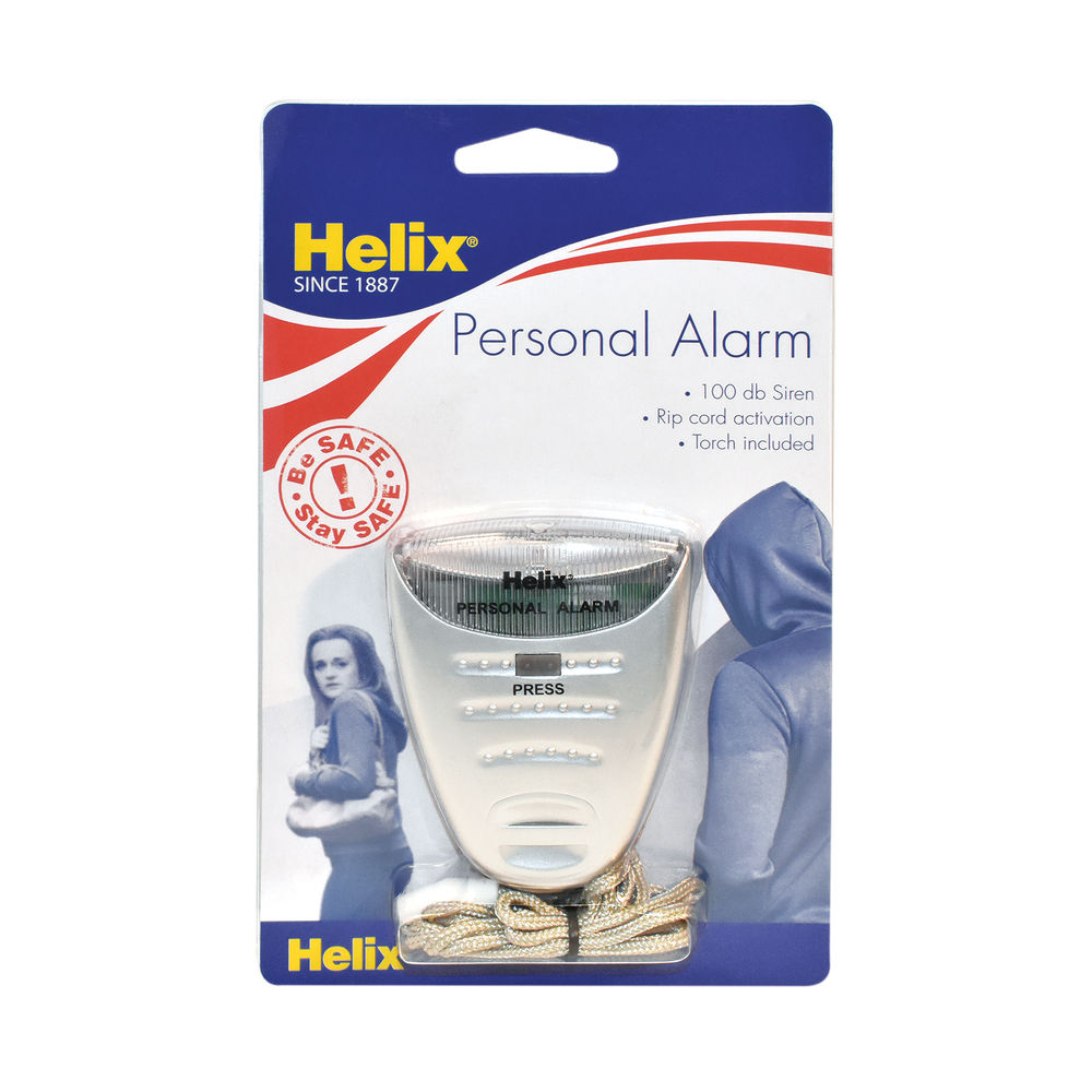 Helix Personal Attack Alarm with Torch Silver - PS2070