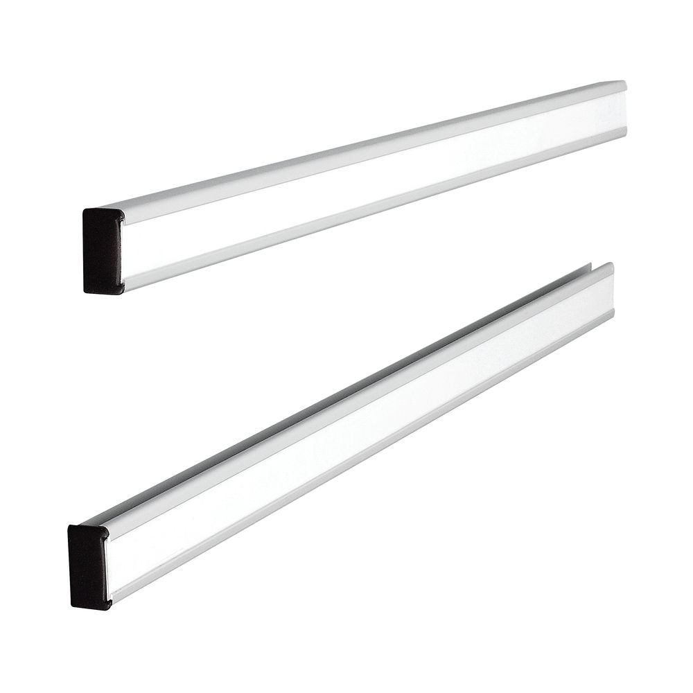 Pack of 2 Nobo Size 12 T-Card Planning Metal Link Bars 388 x 13mm - 32938888
