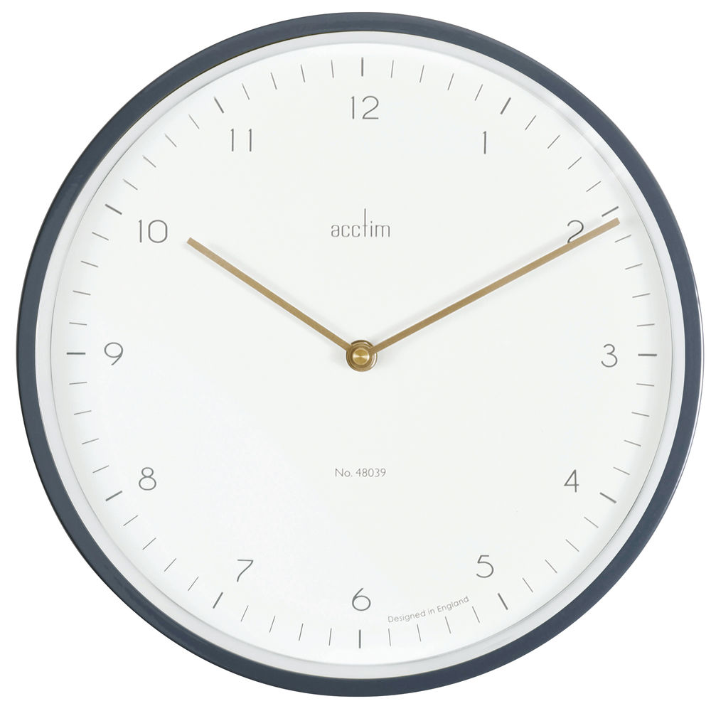 Acctim Grey Bronx 30cm Wall Clock - 29457