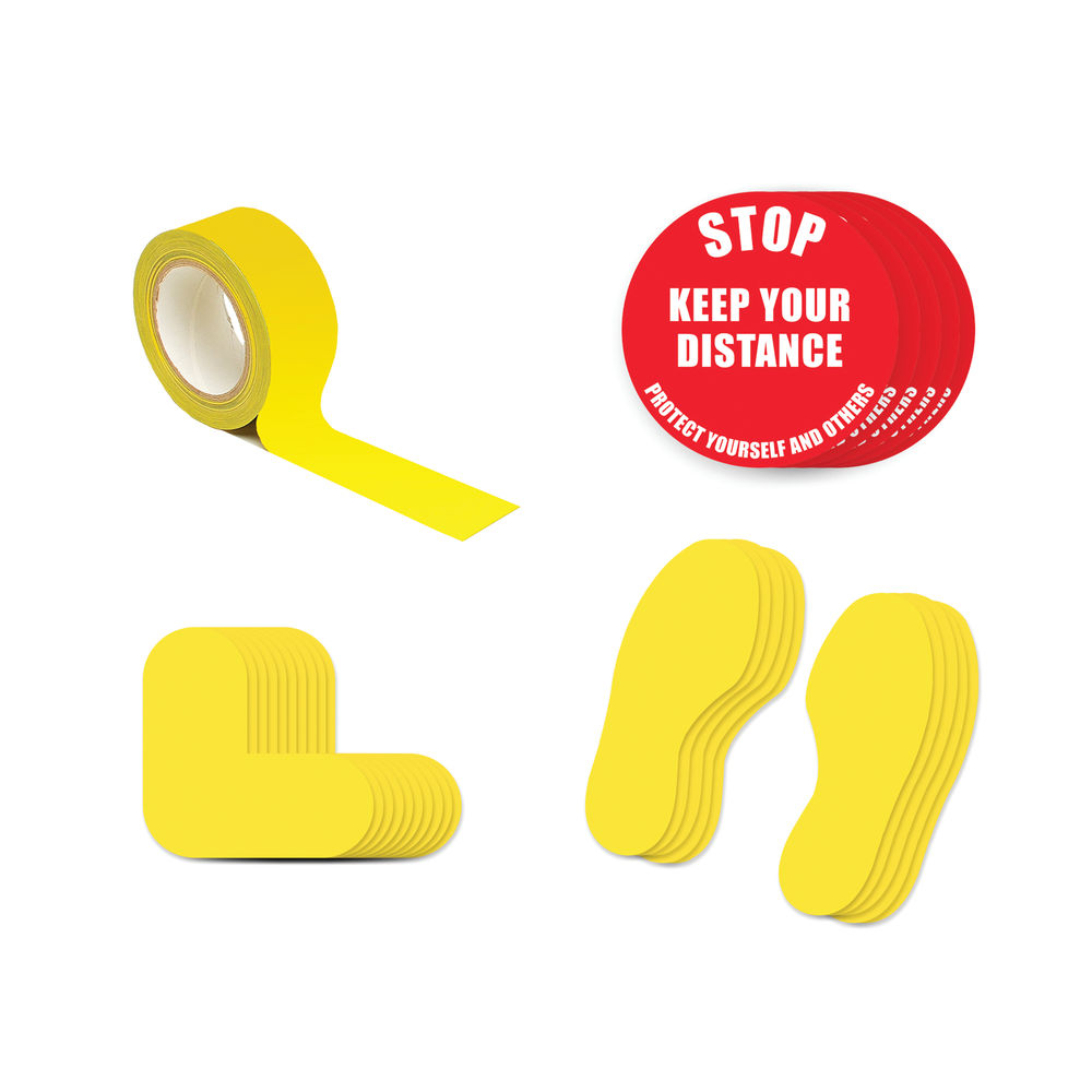 Social Distance Keep Your Distance Marker 2A Kit - SDKIT2A