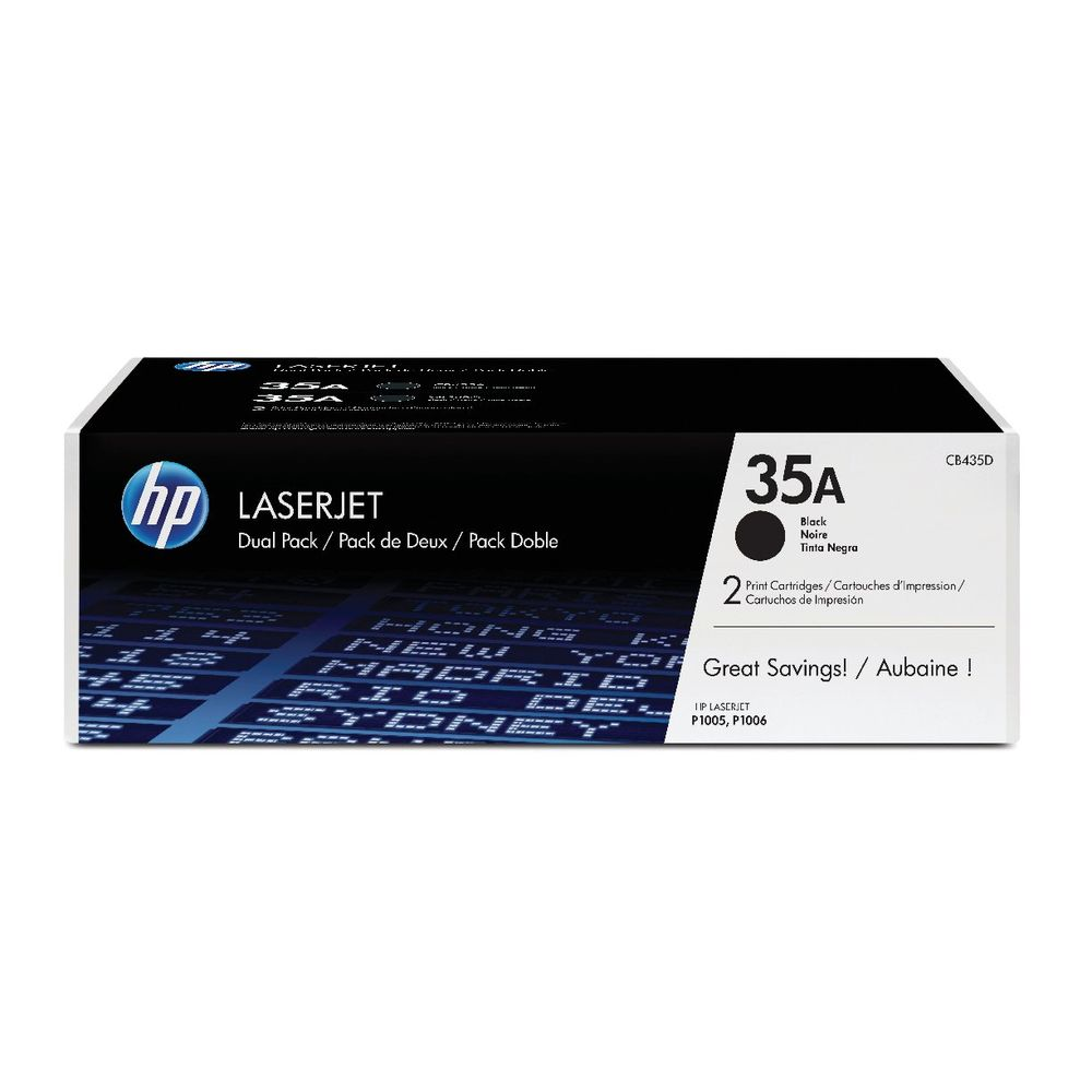 HP 35A Black Toner Twin Pack - CB435AD