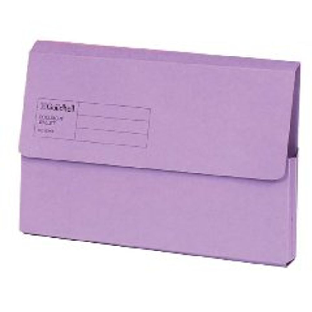 Guildhall Violet A4/Foolscap Document Wallets 285gsm - Pack of 50 - GH22011