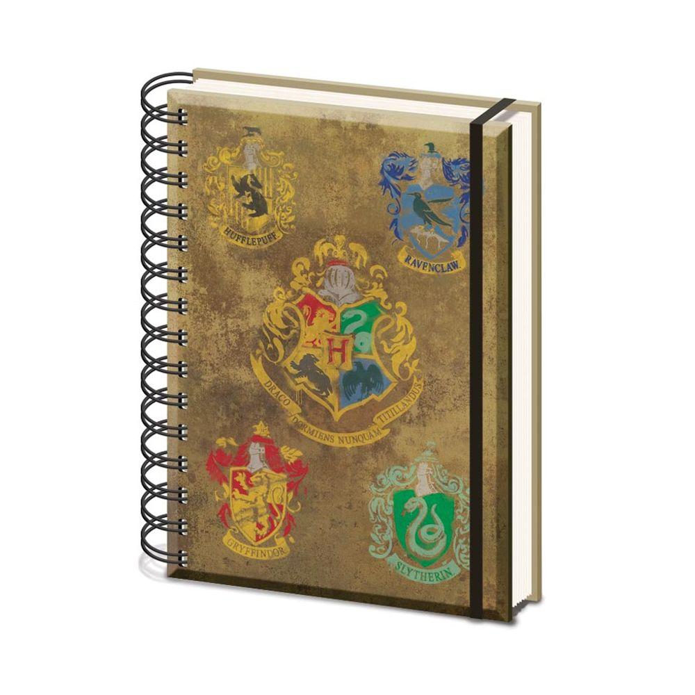 Harry Potter A5 Hogwarts Crest Wirebound Notebook - SR72083