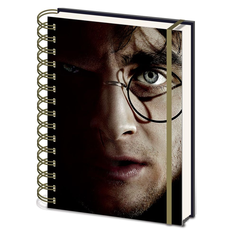 Harry Potter A5 Harry/Voldemort 3D Cover Wirebound Notebook - SR72606