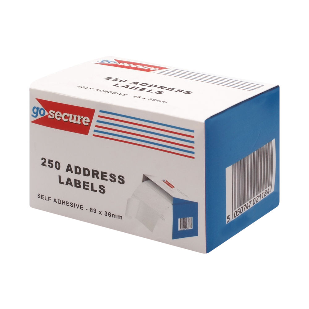 Go Secure Self Adhesive Address Labels, Pack of 1500 - PB02278