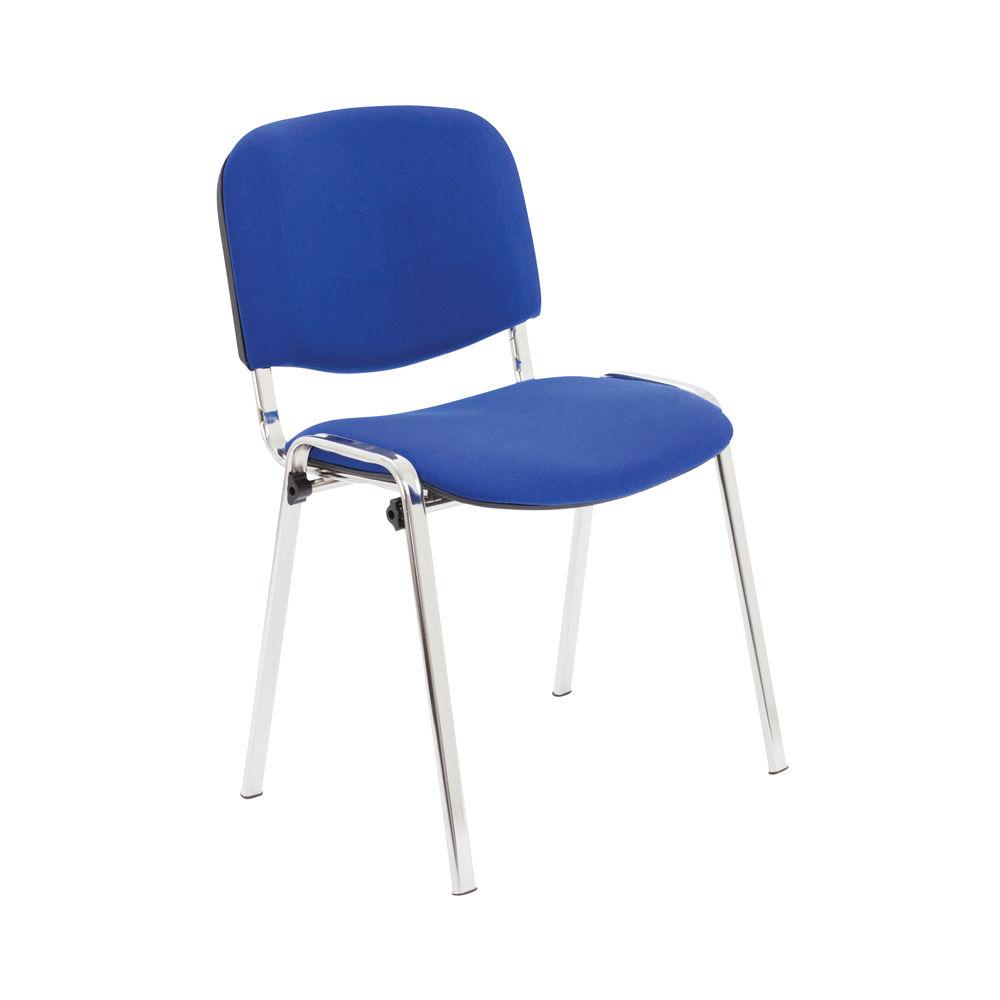 First Ultra Blue/Chrome Multipurpose Stacker Chair