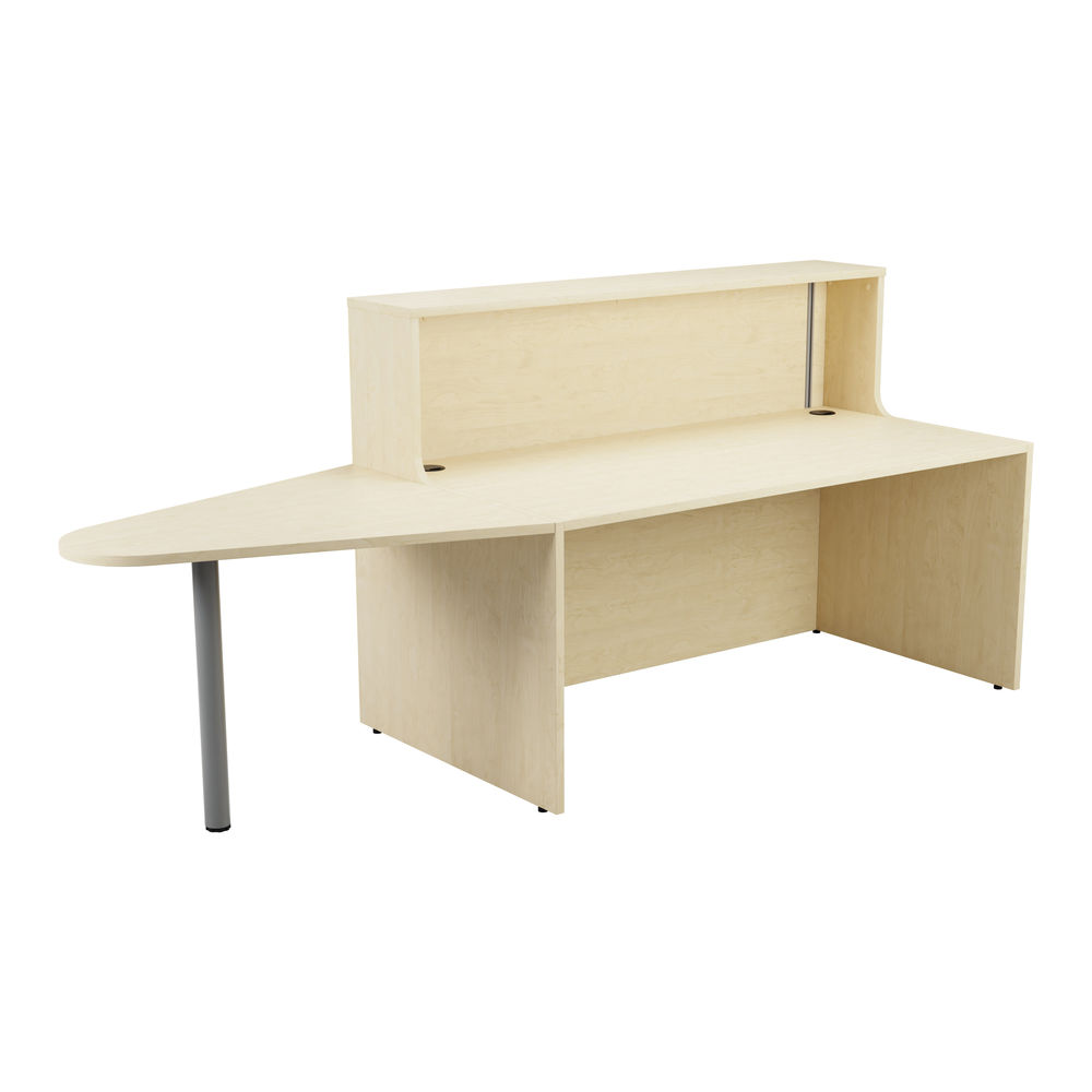 Jemini 1600mm Maple Reception Unit with Extension