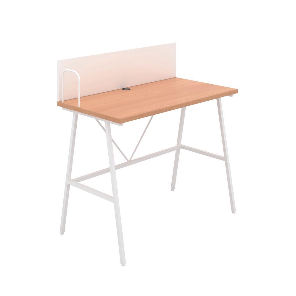 Jemini Soho Beech/White Backboard Desk