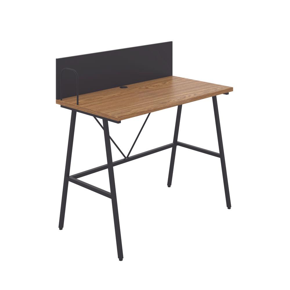 Jemini Soho Oak/Black Backboard Desk