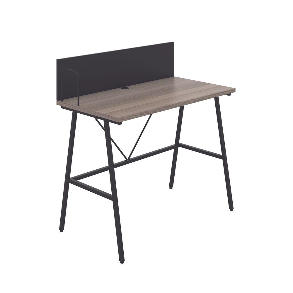 Jemini Soho Grey Oak/Black Backboard Desk