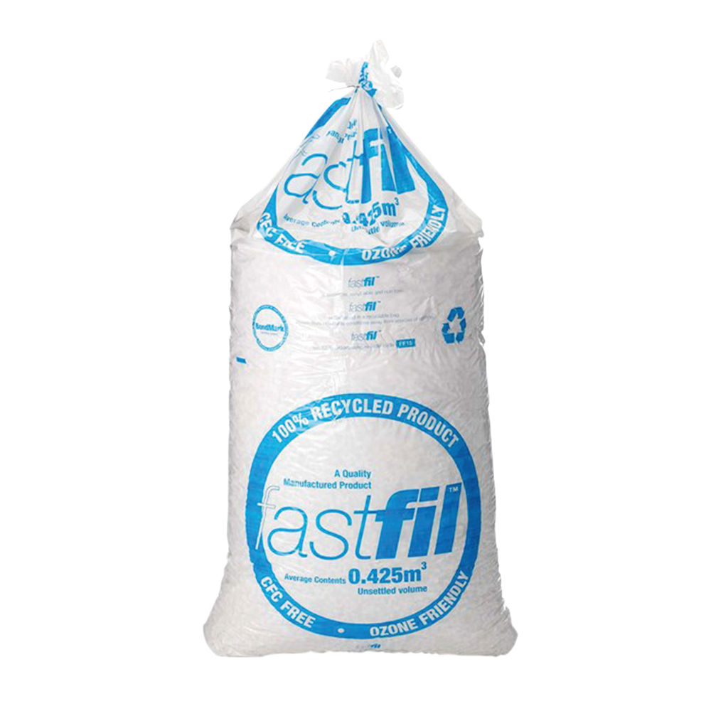 Fastfil 15 Cubic Feet Polystyrene Loose Fill Chips - 65804