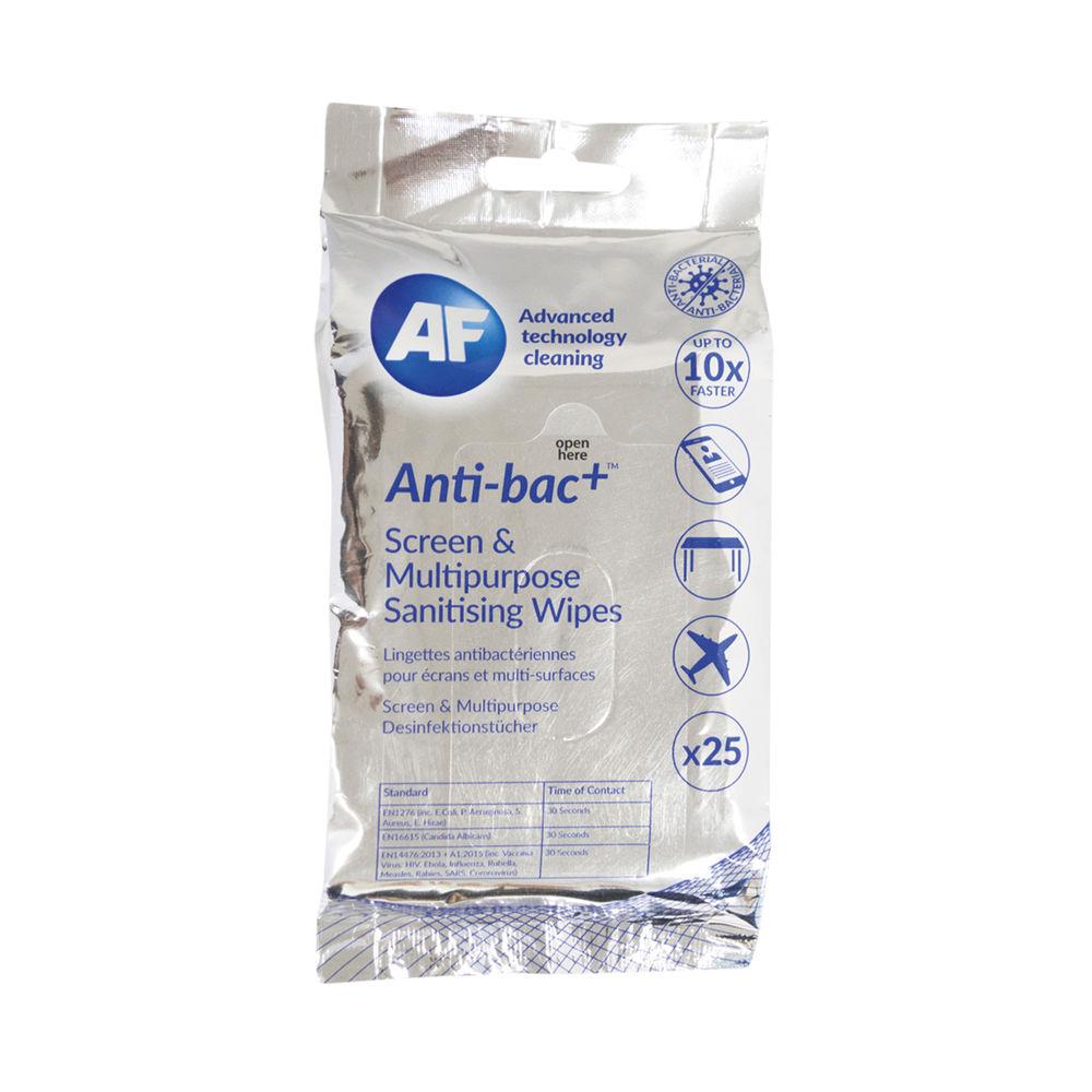 AF Antibacterial Sanitising Screen Wipes (Pack of 25) ABTW025P
