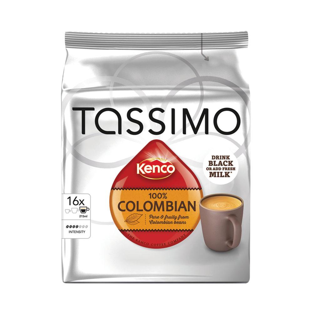 Tassimo Kenco 100% Columbian Coffee 136g Capsules (5 Packs of 16) 712864
