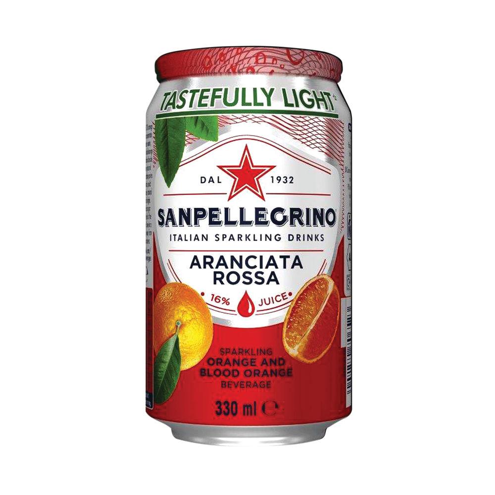 San Pellegrino Sparkling Blood Orange 330ml Cans, Pack of 24 - 12441788