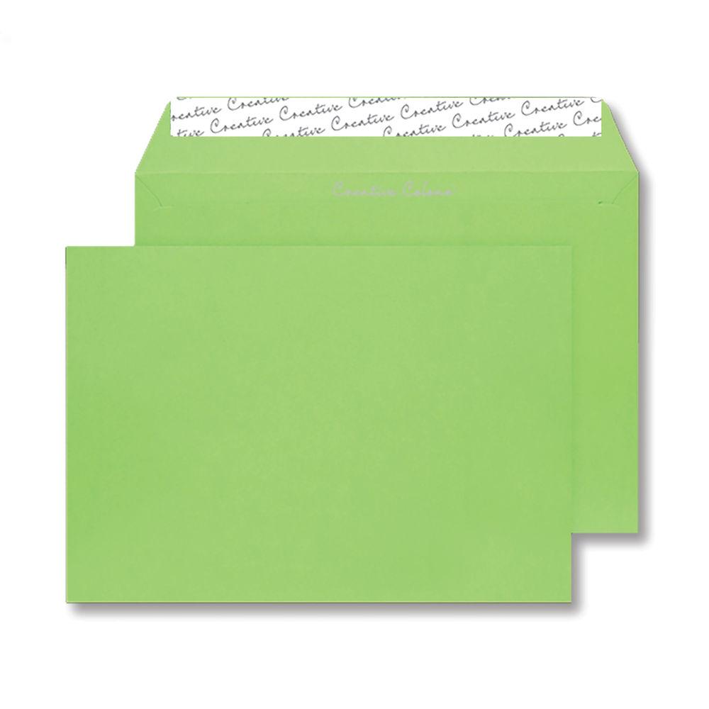 Blake Lime Green C4 Wallet Peel & Seal Envelope, 120gsm - Pack of 250 - BLK93022