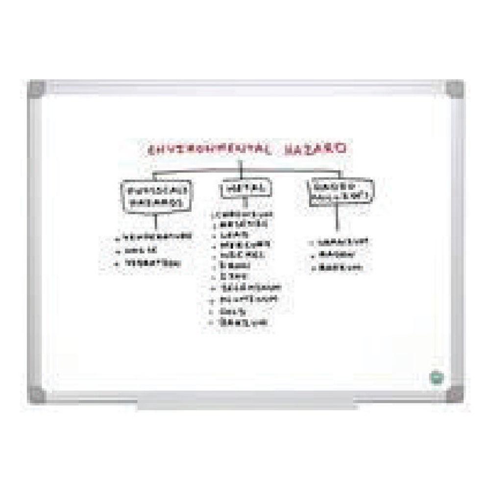 Bi-Office Earth Non-Magnetic Melamine Drywipe Board 1200x900mm MA0500790