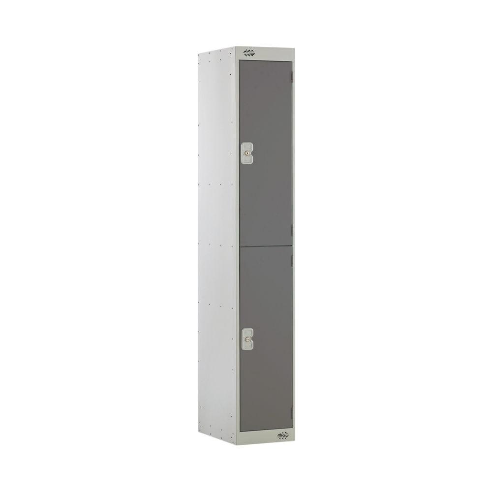 Two Compartment D300mm Dark Grey Locker - MC00009