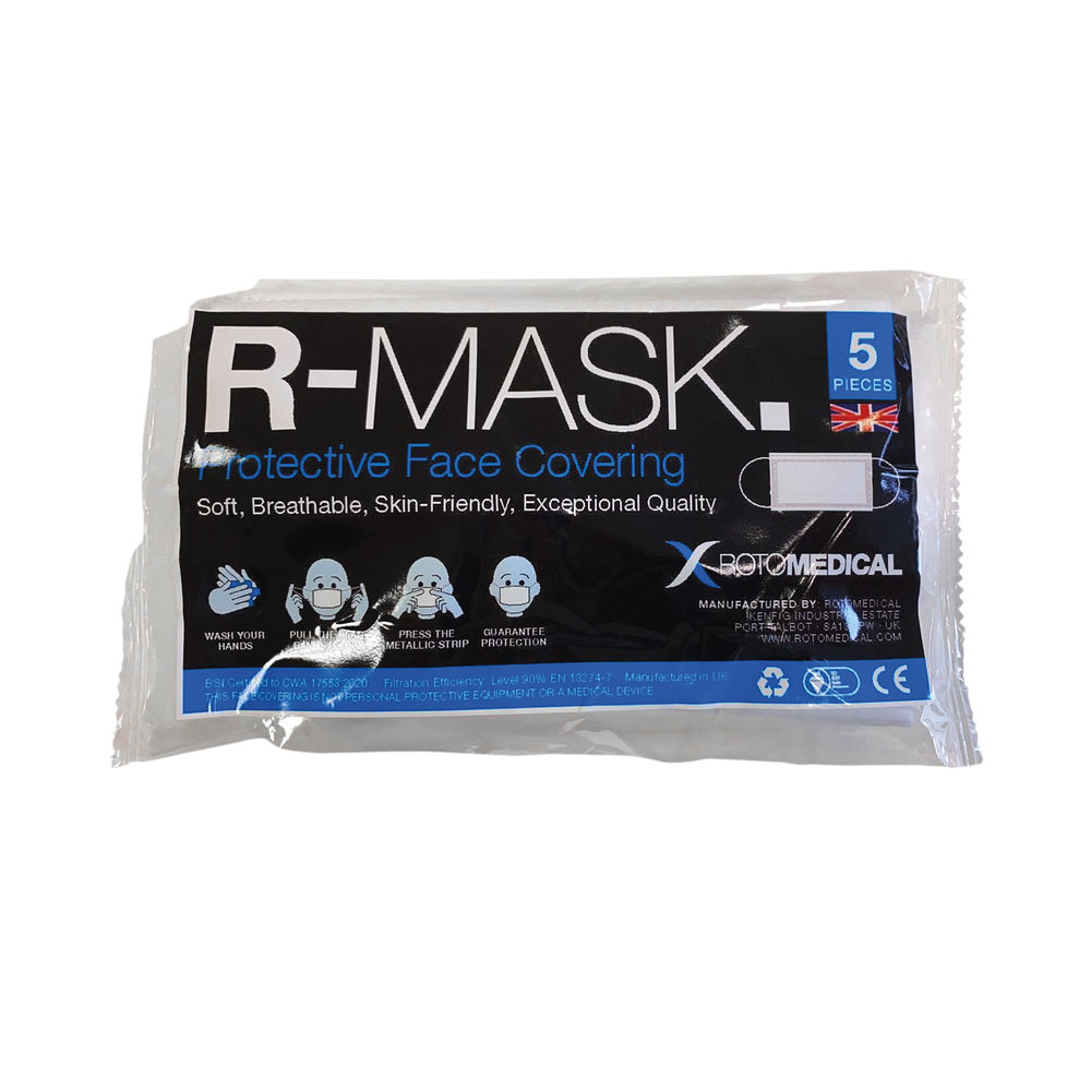 Roto Med Face Covering (Pack of 5) R-MASK