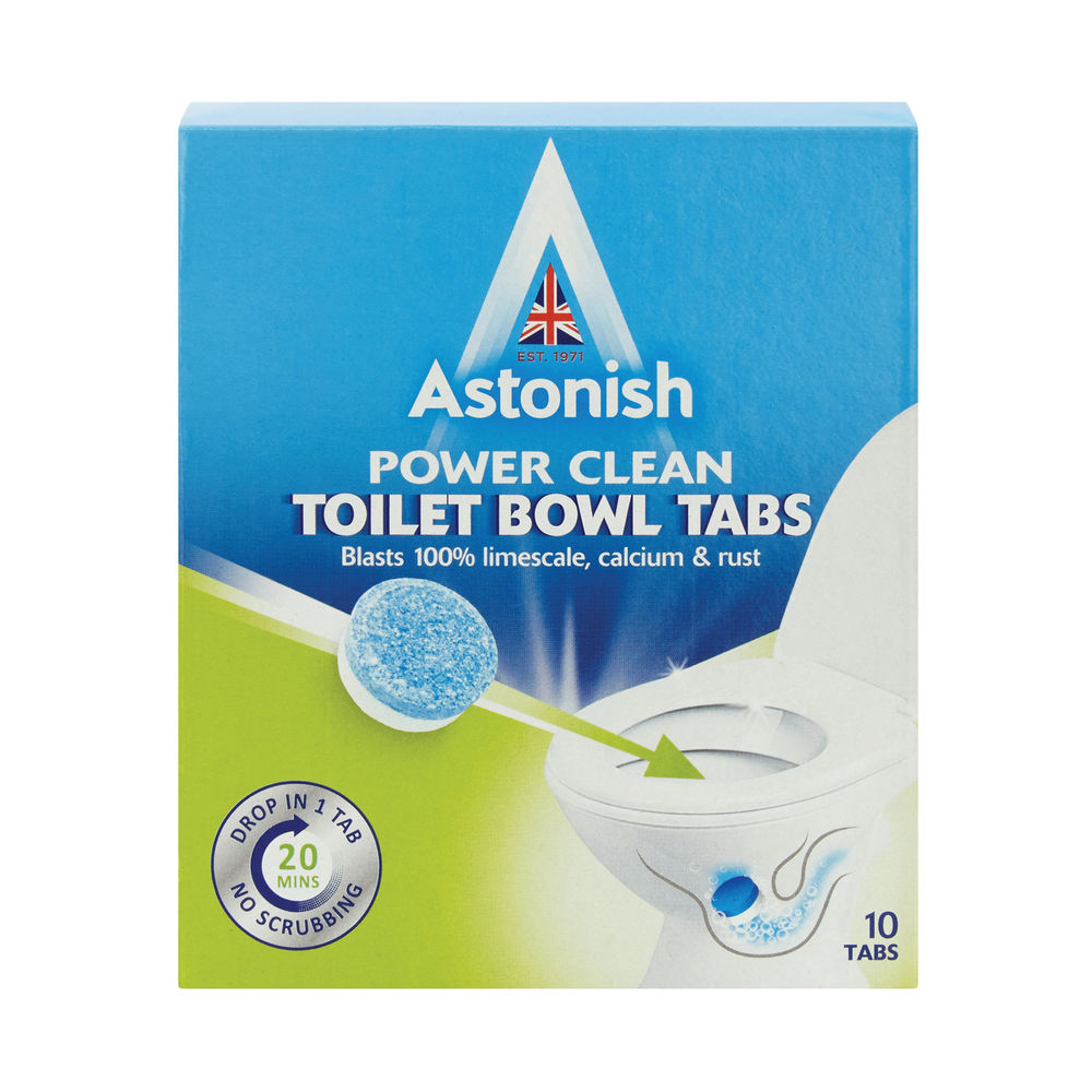 Astonish Power Clean Toilet Bowl Cleaner Tablets (Pack of 10) C2184