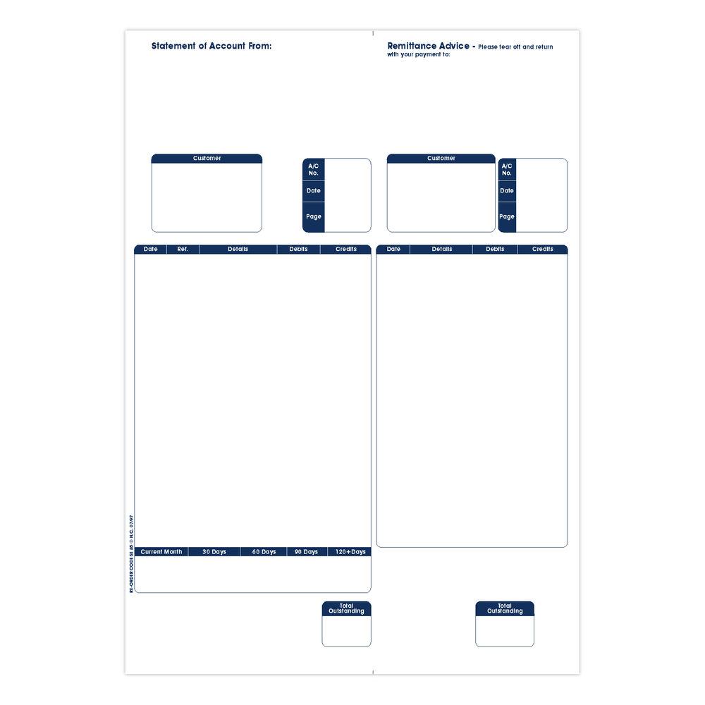Custom Forms Sage A4 1-Part Laser Sales Ledger Forms, Pack of 500 - SE85S