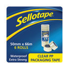 Sellotape 50mm x 66m Clear Poly Packaging Tape, Pack of 6 | 1445171