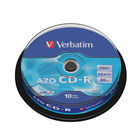 Verbatim 700MB 52x Speed CD-R Extra Protection Spindle, Pack of 10 | 43437