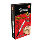Sharpie Twin Tip Black Permanent Marker Pens - Pack of 12 - S0811100