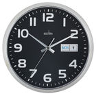 Acctim Supervisor Wall Clock 320mm Chrome/Black 21023