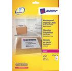 Avery White Weatherproof Shipping Labels, 99.1 x 57mm (Pack of 250) - AV04912