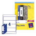 Avery White Lever Arch Filing Labels 200 x 60mm (Pack of 100) - L7171-25