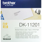 Brother Standard Address Labels, Pack of 400 DK-11201