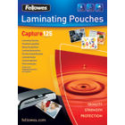 Fellowes 54 x 86mm Glossy 250 Micron Laminating Pouches, Pack of 100 - 53063