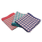 Tea Towel with Check Design, 450mm x 700mm - Pack of 10 - P04825