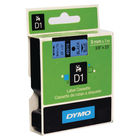 Dymo D1 Standard Label Tape Black on Blue - 40916