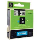 Dymo D1 Standard Label Tape Black on White - 43613 / S0720780