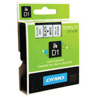Dymo D1 Black on White Label Tape 12mmx7m - S0720530