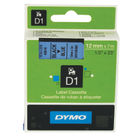 Dymo D1 Standard Label Tape Black on Blue - S0720560