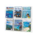 Safco A4 6 Pocket Deluxe Magazine Presenter - 5607CL