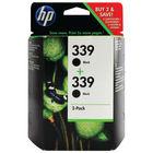 HP 339 Black Ink Cartridge Twin Pack - C9504EE