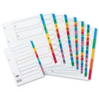 Concord 1-50, Multi-Coloured Mylar Tabs A4 Index Dividers - 05001/CS50