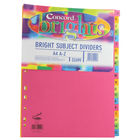 Concord A4 Index Divider, Bright Assorted, A-Z Tabs - Pack 10 - JT52499