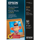 Epson 100 x 150mm White Glossy Photo Paper, 200gsm- 50 Sheets - C13S042547